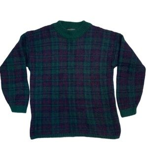 Maurices Green Plaid Mohair Blend Sweater L